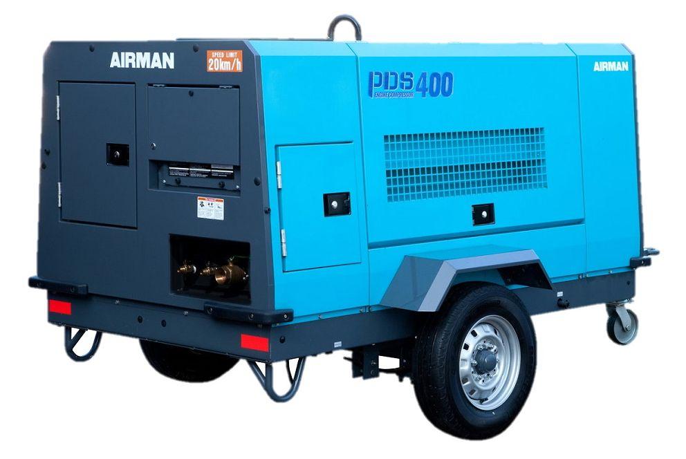 Компрессор AIRMAN PDS400SC-W на шасси