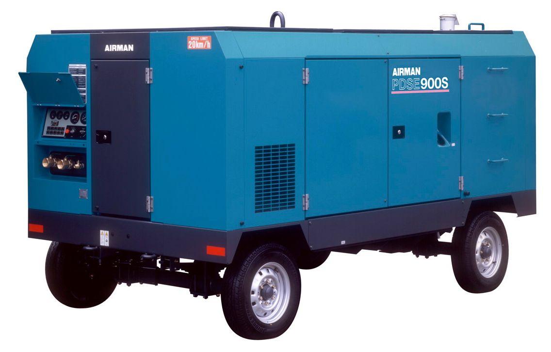 Компрессор AIRMAN PDSE900S-W на шасси