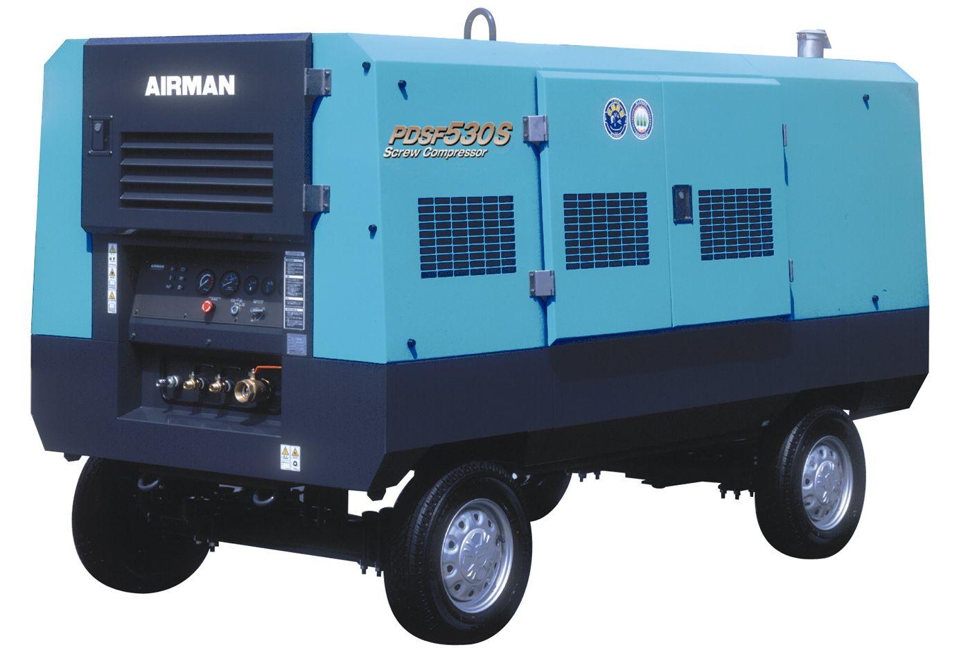 Компрессор AIRMAN PDSF530S-W на шасси