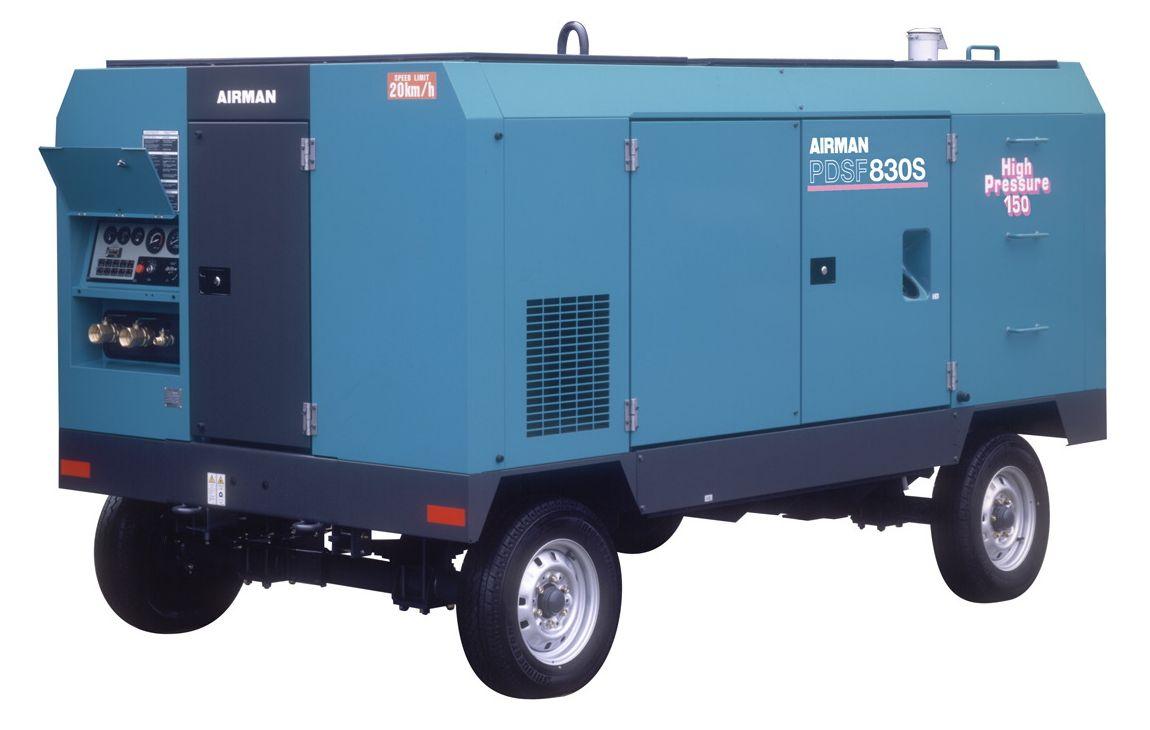 Компрессор AIRMAN PDSF830S-W на шасси