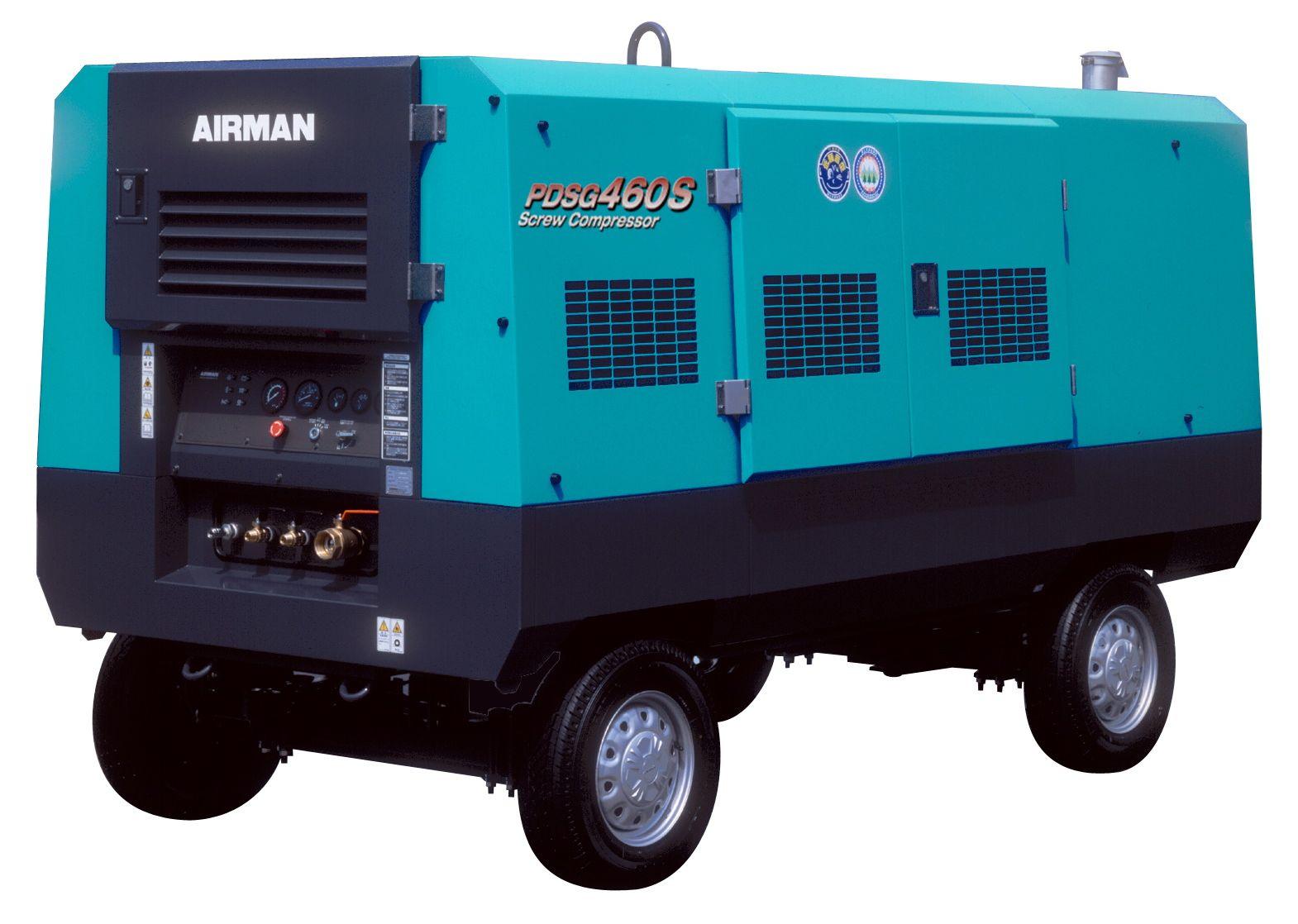 Компрессор AIRMAN PDSG460S-W на шасси