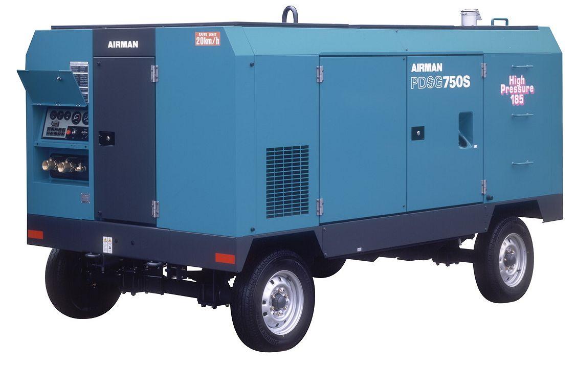 Компрессор AIRMAN PDSG750S-W на шасси