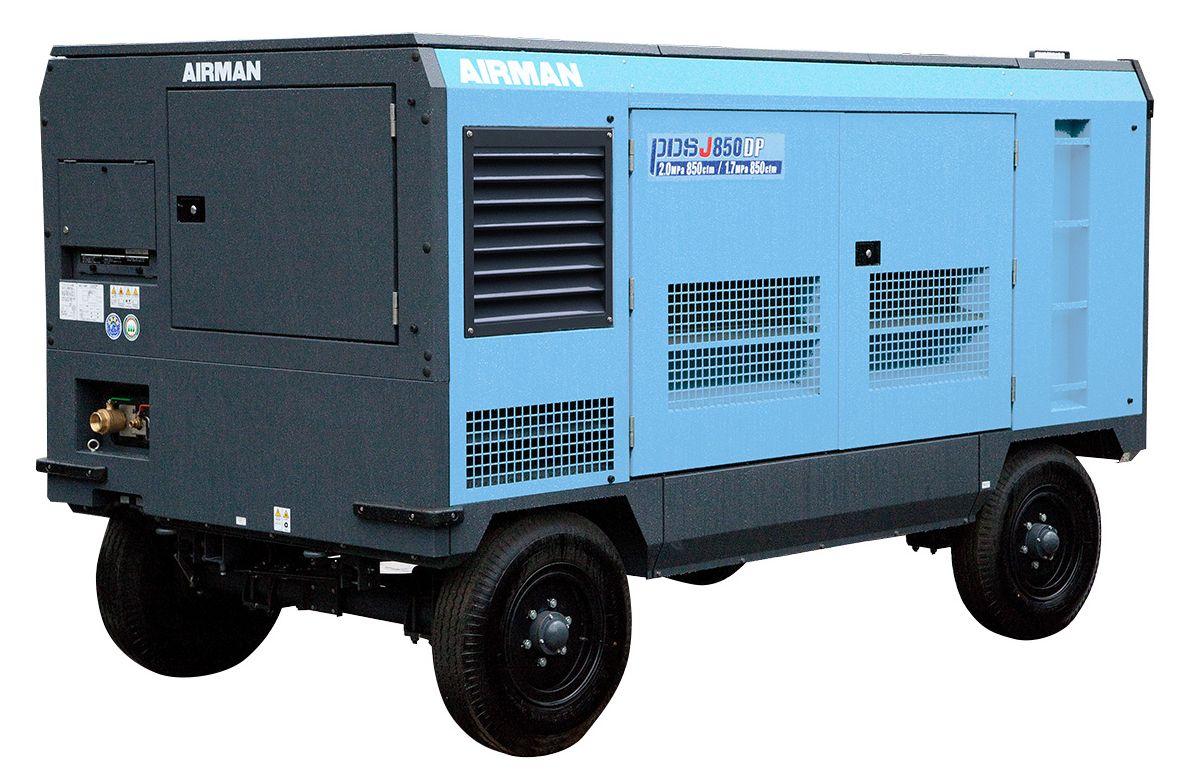 Компрессор AIRMAN PDSJ850DPC-W на шасси